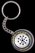Stock Car Wheel Key Chain